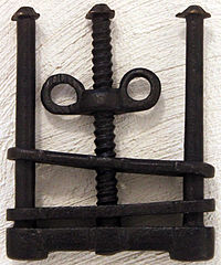 Thumbscrew torture  Wikipedia