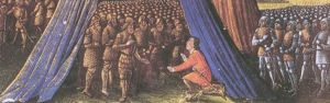 Balian of Ibelin surrendering the city of Jeru...