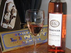 Just a bottle of Beringer White Zinfandel