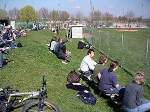 Deutsch: Boars Field, Spielfeld des Baseball C...