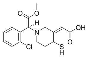 Chemical structure of the active metabolite of...