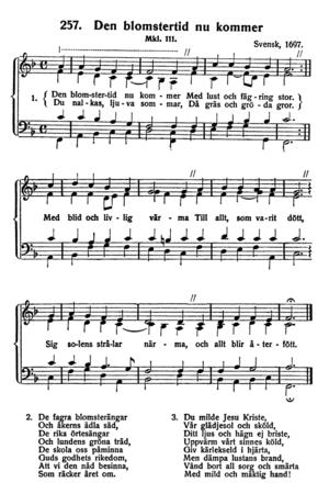 "English: Musical notation and lyrics of ""..."