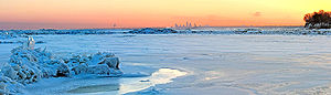 Lake Erie in the winter