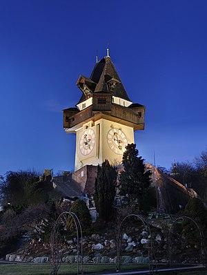 Clock Tower in Graz, Styria, Austria Español: ...