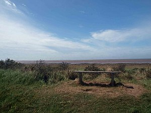 English: Have a seat Bench overlooking the Hum...