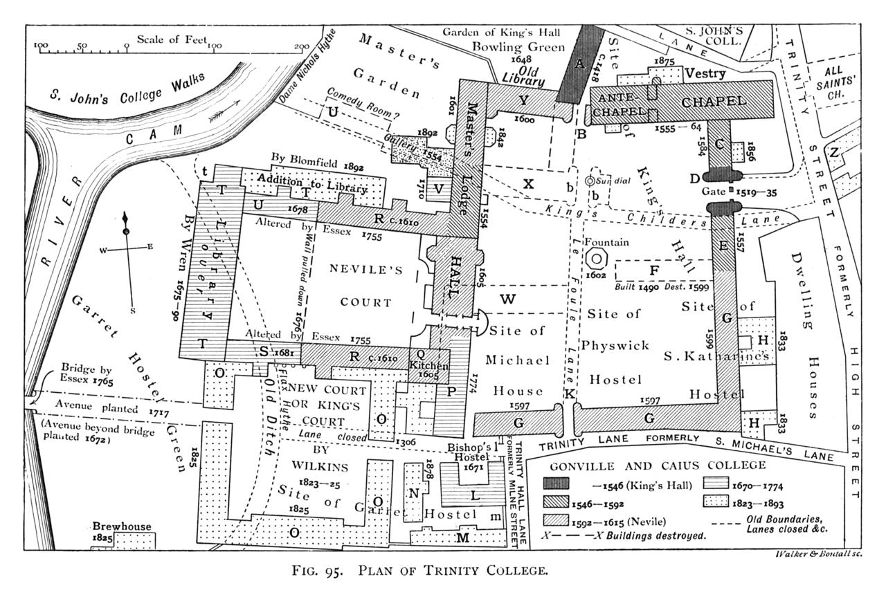 File:Historical plan of Trinity College, Cambridge (1897