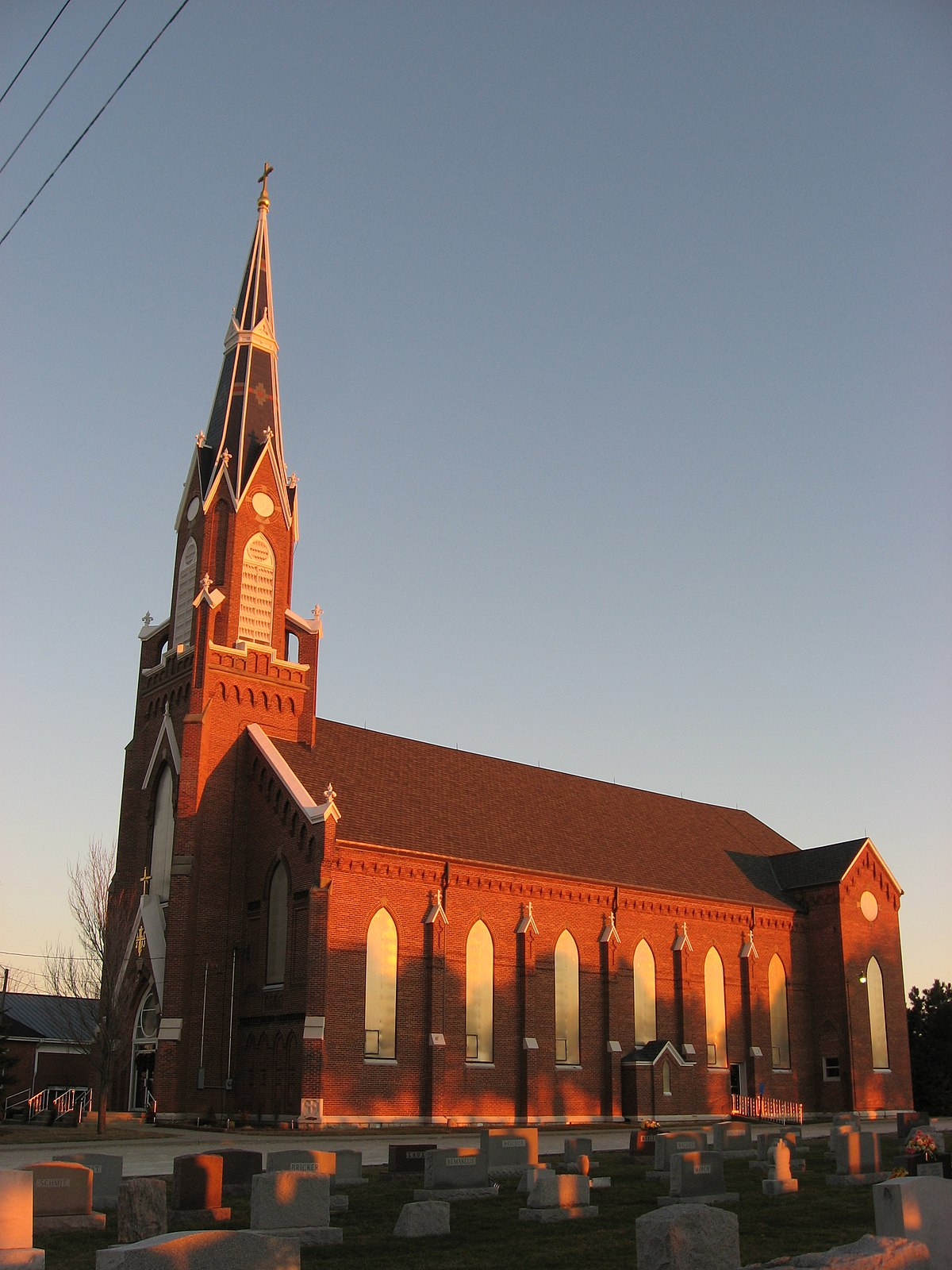 Holy Trinity Catholic Church Trinity Indiana Wikipedia