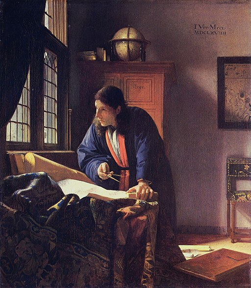 """""""The Geographer"""" by Johannes Vermeer"""
