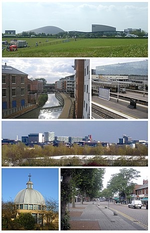English: A montage of images of Milton Keynes.