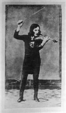 Daguerréotype de Paganini (vers 1840).