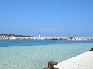 English: San Vito Lo Capo, dock. Italiano: San...