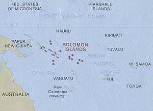 English: Map of Solomon Islands.