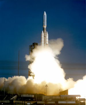 The Voyager 1 aboard the Titan III/Centaur lif...