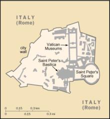 Mapa do Estado da Cidade do Vaticano