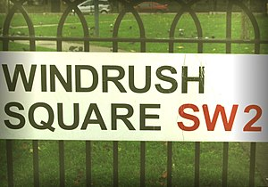 Windrush Square street sign Windrush Square Ic...