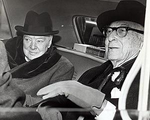 Sir Winston Churchill, British statesman, and ...