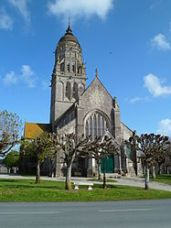 The church of Notre-Dame in Sainte-Marie-du-Mont