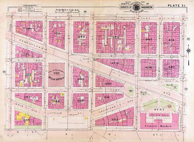 File 1909 Map Of Downtown Washington D C Jpg Wikimedia