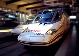 Talgo 350 train as used on Spanish AVE high sp...