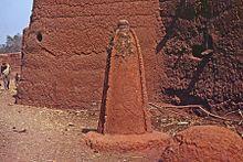 Animist altar, Bozo village, Mopti, Bandiagara, Mali in 1972.