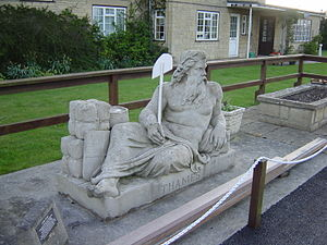 Statue of Father Thames, alongside St John's L...