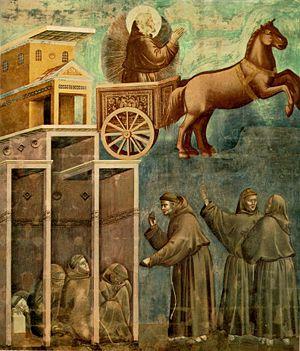 Apparizione di san Francesco su un carro di fuoco  Wikipedia