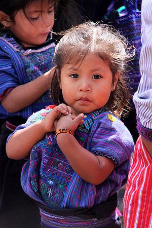 young girl in todos santos guatemala