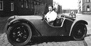 English: German engineer Josef Ganz in his Mai...