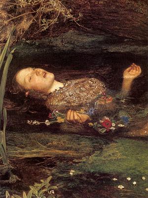 Detail from Millais' famous portrait of Ophelia