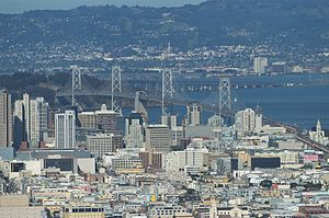 San Francisco Bay Bridge, view from San Franci...