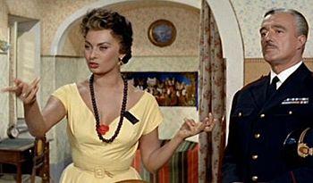 Italiano: Sofia Loren e Vittorio De Sica nel f...