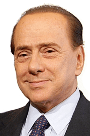 Silvio Berlusconi in a meeting