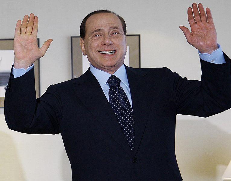 Silvio Berlusconi, foto di Ricardo Stuckert, Agência Brasil. CC 2.5