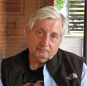 English: Graphic designer Storm Thorgerson, at...