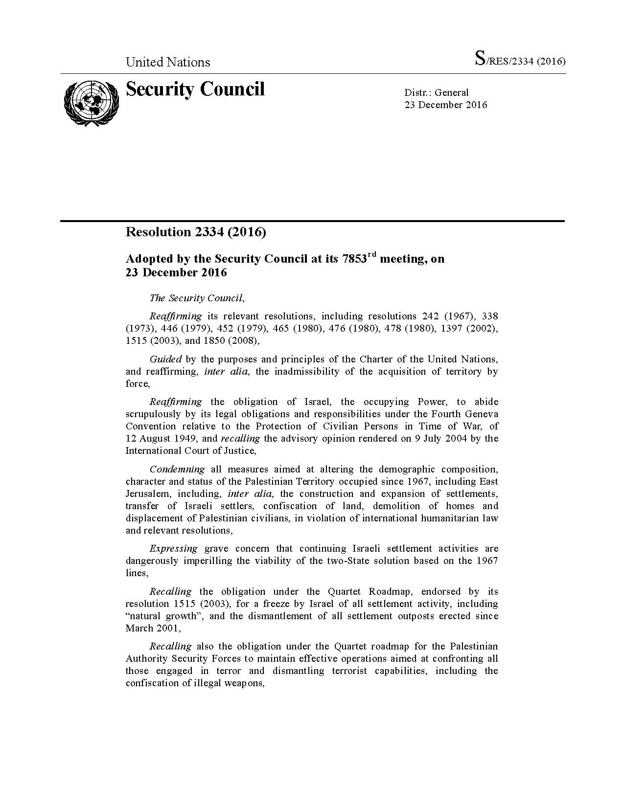 File United Nations Security Council Resolution