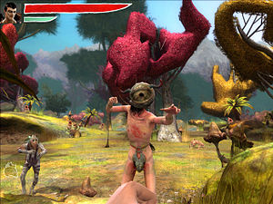 English: Zeno Clash screenshot. Released in 20...