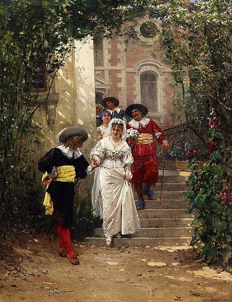 File:Adrien Moreau Das Brautgeleit 1876.jpg