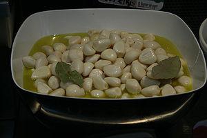 garlic in olive oil