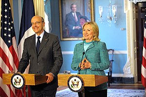 Secretary Clinton holds a bilateral meeting wi...