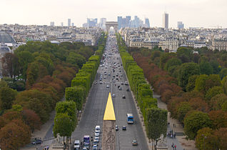 The Historical Axis Looking West From Place De La Concorde The Obelisk Of Luxor Is In The Foreground The Champs Elysees