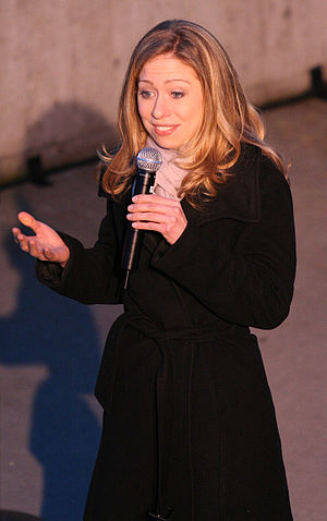 Chelsea Clinton speaking during a campaign sto...