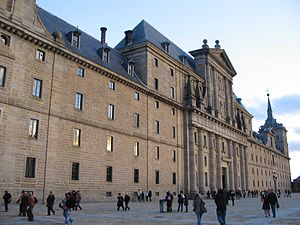 Herrerian façade of the Monastery of El Escorial.