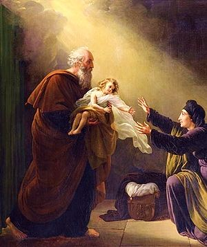 English: Elijah Resuscitating the Son of the W...