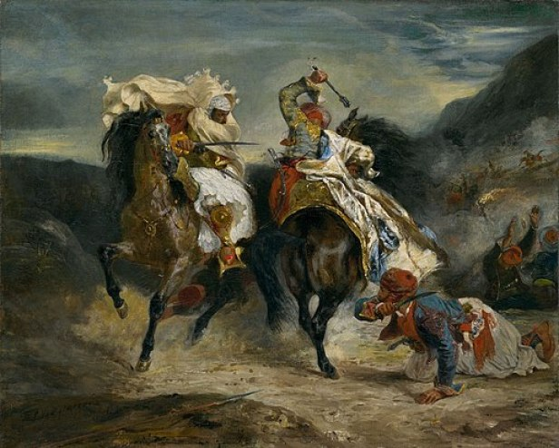 The Combat of the Giaour and Hassan by Eugène Delacroix