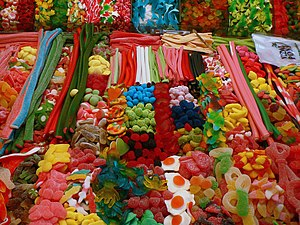 Candies, Covered Market, Barcelona, Spain