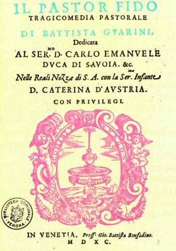 Guarinis's Il pastor fido (1590) pastoral trag...