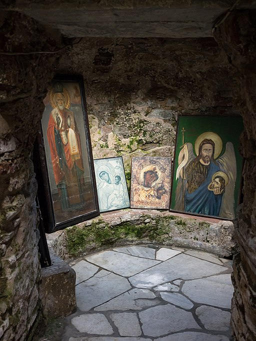 Icons in the Catacombs of Saint John