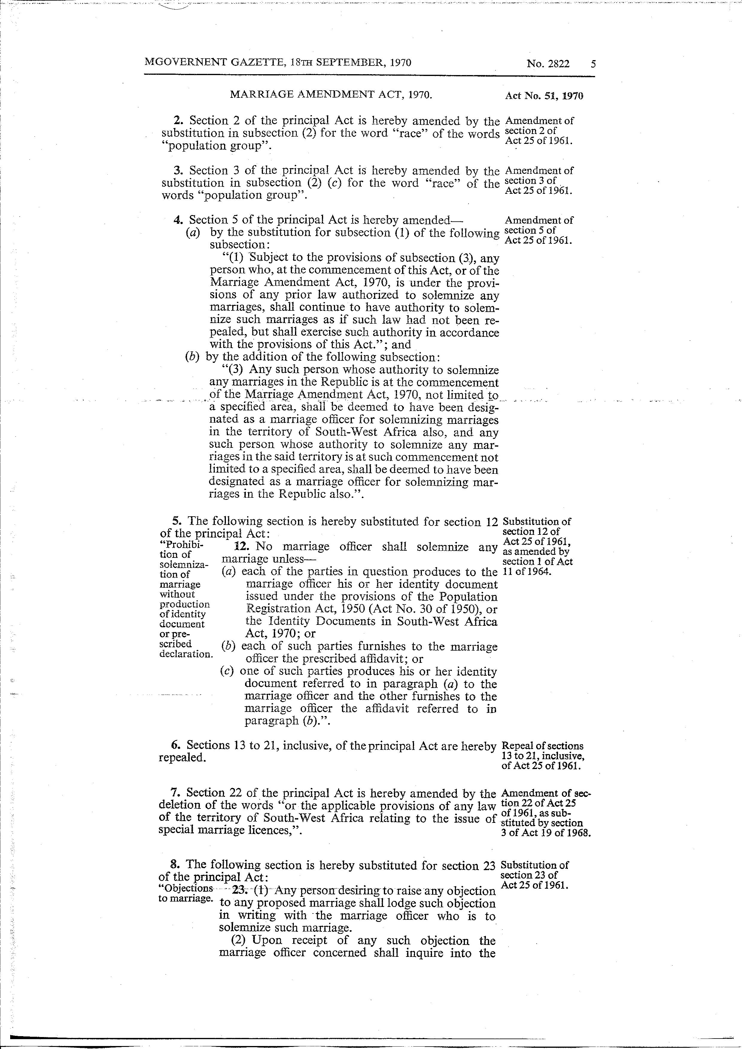 Page:Marriage Amendment Act 1970 from Government Gazette