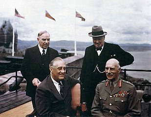 King and other allied leaders in Quebec City, 1943
