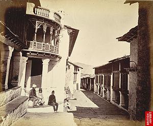 'Almora Bazaar', the main market of Almora cit...